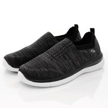 Lotto樂得-飛織輕走鞋-WX5900黑(女段)