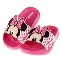 《布布童鞋》Disney迪士尼米妮桃紅兒童超輕量拖鞋(15~21公分) [ D7Q003H ] 桃紅色款