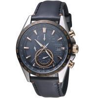 星辰CITIZEN GETS系列鈦金紳士電波計時腕錶 AT8158-14H