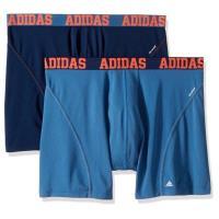 Adidas 男時尚Climacool雙藍色四角修飾內著混搭2件組(預購)