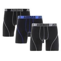 Adidas 男時尚Climalite黑色四角修飾內著混搭3件組(預購)