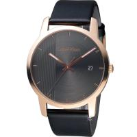 ck Calvin Klein City 都會系列皮帶手錶 K2G2G6C3