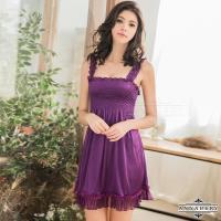 大尺碼Annabery浪漫深紫色系高腰款性感睡衣