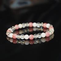 【喨喨飾品】紅紋石/粉紅澳寶/冰粉晶/水晶 寶石能量手鍊 N354
