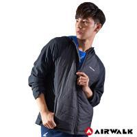 【AIRWALK】男款連帽拼接鋪棉外套-男-黑色