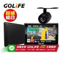 GOLiFE GoPad 5S 多功能智慧Wi-Fi 5吋聲控導航平板機+R20防水倒車顯影鏡頭(收納盥洗包)