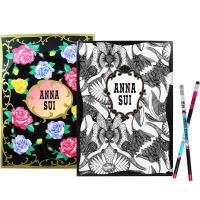 ANNA SUI 安娜蘇 經典薔薇文件夾+魔法星願文件夾+DOLLY GIRL 鉛筆組
