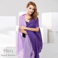 【Angel Woolen】100%Wool 雙色多變造型 羊毛披肩圍巾(共四色)
