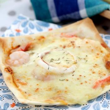 披薩市 義式手工米披薩30片-海鮮+臘腸+野菇蒟蒻