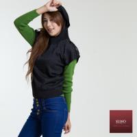 【KIINO】羊絨連帽銀蔥針織衫-3852-1055