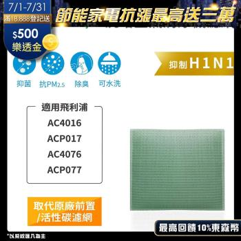 Original Life~ 空氣清淨機濾網 適用飛利浦:AC4016、ACP017、AC4076、ACP077~長效可水洗