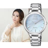 CITIZEN 星辰L HEBE廣告 婉約氣質光動能女錶(藍貝/32mm) EM0550-83N
