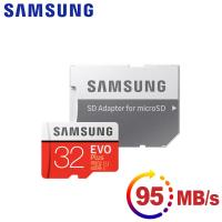 Samsung三星 microSDHC 32GB R95/W20MB UHS-I EVO+高速記憶卡-含轉卡-加送kitty OTG傳輸線-粉