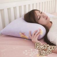 【奶油獅】MIT正版授權100%精梳純棉珍珠球棉枕(大)-幻紫