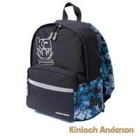 金安德森 輕巧防潑水前袋造型後背包-黑色