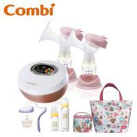 日本Combi 雙邊吸乳器+玻璃奶瓶(1+1)組+春漾手提包組