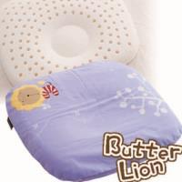 【奶油獅】馬來西亞天然乳膠新生嬰兒模塑造形圓枕(幻紫)~適合0~6個月新生必購