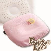 【奶油獅】馬來西亞天然乳膠新生嬰兒模塑造形圓枕(粉紅)~適合0~6個月新生必購