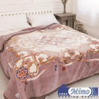 【米夢家居】鳴球100%澳洲美麗諾拉舍爾雙層加厚保暖純羊毛毯(200*230CM)-紫芋情緣(4公斤)