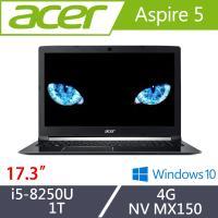 Acer宏碁 Aspire 5 大尺寸獨顯筆電 A517-51G-51QL 17.3吋/i5-8250U/4G/1T/MX150