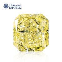 【鑽石共和國】GIA正方形天然黃彩鑽 0.72克拉 Natural Fancy Light Yellow / SI1