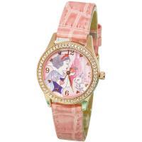 【Disney迪士尼】公主系列 玫瑰金 珠框水鑽錶 - 白雪公主 紅蘋果的誘惑
