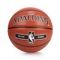 SPALDING NBA-PU 銀色籃球-戶外 NBA 斯伯丁 棕銀