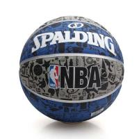 SPALDING NBA 塗鴉系列 斯伯丁籃球-戶外 運動 灰藍黑