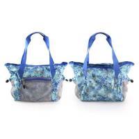 MIZUNO 女用側肩袋-可收納-美津濃 側背包 斜背包 旅行袋 行李包 湖水綠藍