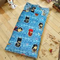 HO KANG 正版授權 雪紡棉冬夏鋪棉兩用兒童睡袋-Q版正義聯盟
