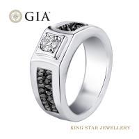 King Star 堅定系列-愛你堅貞不渝 GIA 30分設計款鑽石男戒