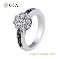 King Star 堅定系列-愛你堅貞不渝 GIA 30分設計鑽石女戒