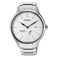CITIZEN 星辰 爵士鈦金屬機械錶-白x銀 42mm NJ0090-81A