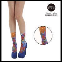 【摩達客】英國進口義大利製Pamela Mann  繽紛印花彈性短襪/腳踝襪