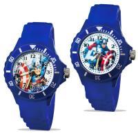 【迪士尼】中型運動彩帶轉圈兒童錶 - Captain America  美國隊長  正義藍色 (2款可選)