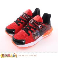 魔法Baby 男童鞋 台灣製機器戰士正版閃燈運動鞋~sa76352