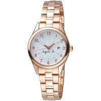 agnes b.耀眼之星時尚腕錶   VJ22-KR60K  BH7016X1