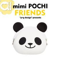 p g design mimi POCHI FRIENDS 繽紛馬戲團系列 立體動物 零錢包 收納包 ~ 微笑熊貓