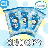 SNOOPY史努比 攜帶型濕紙巾/柔濕巾(10抽x36包)