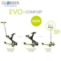 Globber哥輪步 2018舒適版EVO COMFORT五合一兒童滑板車/滑步車/學步車-綠