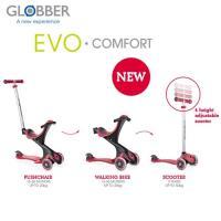 Globber哥輪步 2018舒適版EVO COMFORT五合一兒童滑板車/滑步車/學步車-紅