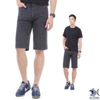 【NST Jeans】冷灰鋼鐵男子 格紋復刻泡泡布 休閒短褲(中腰) 390(9427)