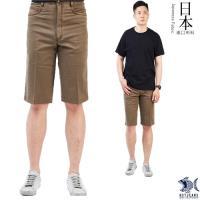 【特價款 即將斷貨】日本布料_沉穩馬鞍棕色 休閒短褲(中腰) NST Jeans 390(9423)