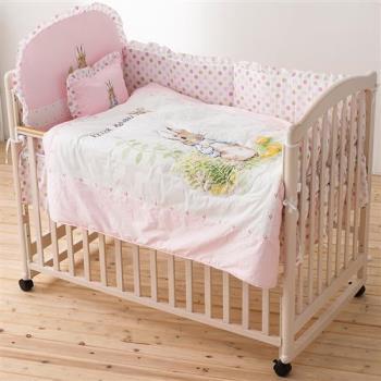 奇哥 Peter Rabbit 花園比得兔六件床組+白色大床