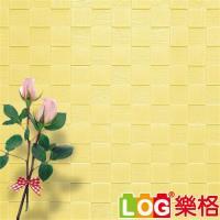 LOG樂格 3D立體 馬賽克防撞美飾牆貼 -鵝黃馬賽克 X5入(防撞壁貼/防撞墊)