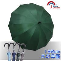 Kasan大傘面12K銀素自動直傘-墨綠
