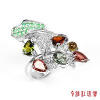 【寶石方塊】天然碧璽戒指-樂山愛水-925銀飾