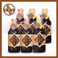 黑豆桑 無麥麩非基改醬油組-白鳳醬油3瓶+黑金醬油3瓶