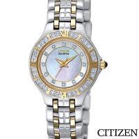 CITIZEN ECO-DRIVE 光動能雙色時尚女錶 EP5615-59D