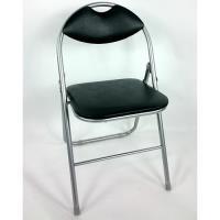 BROTHER 兄弟牌 卡羅有背折疊椅2入-黑色